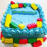 1/2 sheet Lego Themed Birthday Cake