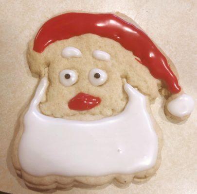 Decorated Santa Sugar Cookies