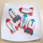 Rocket Themed Sugar Cookies