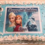1/2 Sheet Cake (frozen theme)