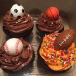 Sports Themed Jumbo Cupcakes