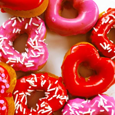 Heart Shaped Donuts- Valentines Day Exclusive