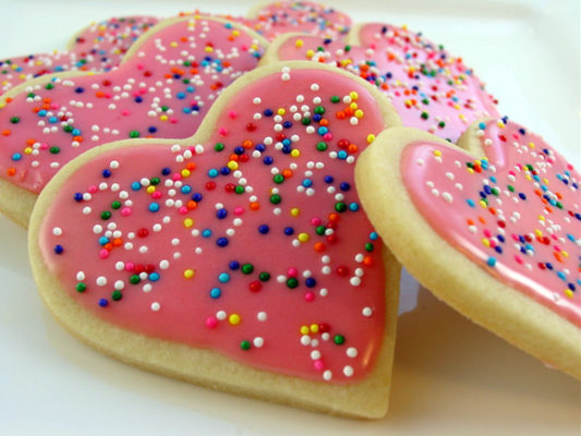 Heart Shaped Sugar Cookies- A Valentines Day Exclusive