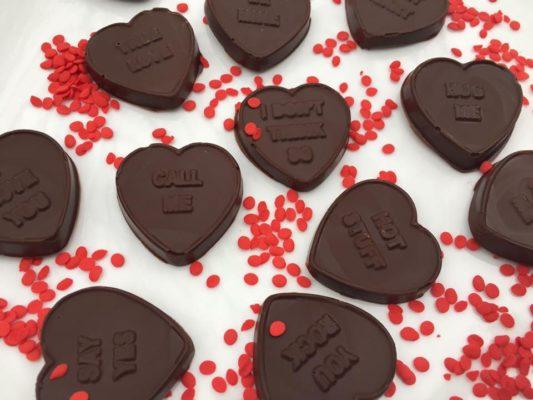 Chocolate Conversation Hearts